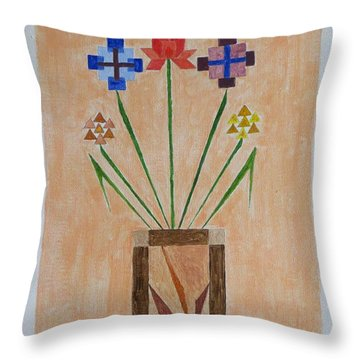 Throw Pillow featuring the painting Bouquet by Sonali Gangane