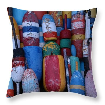 Bouys No Gulls Throw Pillow by Mike Martin