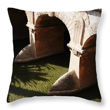 Bows In River Throw Pillow