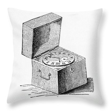 Box Chronometer Throw Pillow by Science Source