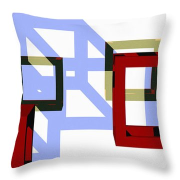 Boxed In Throw Pillow by Richard Rizzo