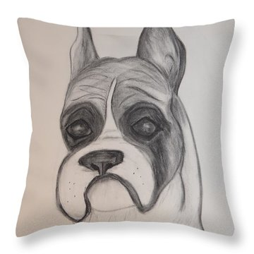 Throw Pillow featuring the drawing Boxer by Maria Urso
