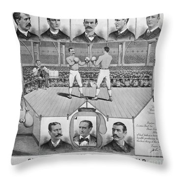 Boxing: American Champions Throw Pillow by Granger