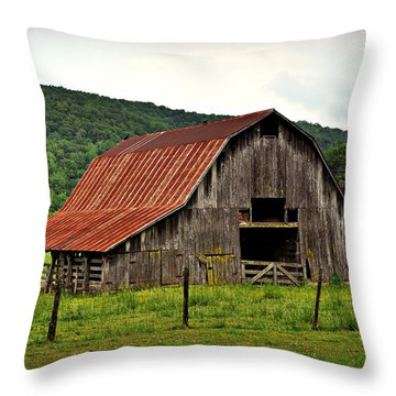 Boxley Barn Throw Pillow by Marty Koch