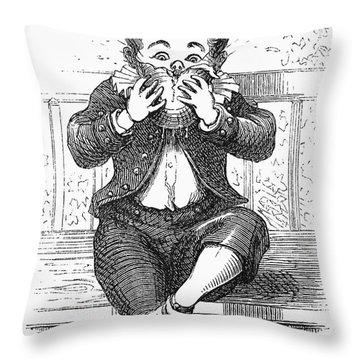 Boy Eating Throw Pillow by Granger