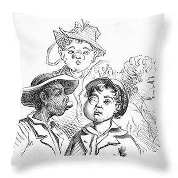 Boys With Bee Stings Throw Pillow by Granger