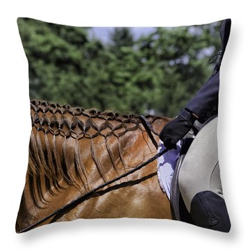 Throw Pillow featuring the photograph Braided Mane by Betty Denise