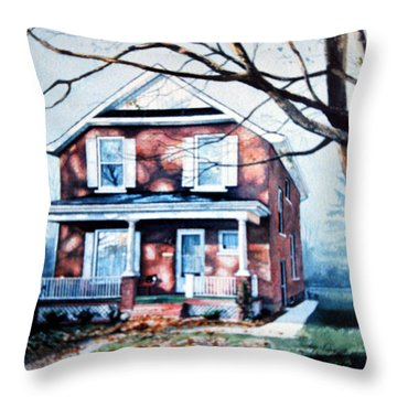Brant Avenue Home Throw Pillow by Hanne Lore Koehler