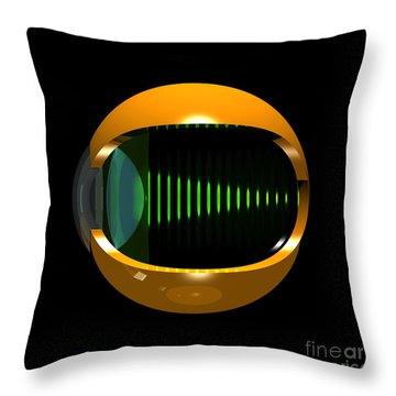 Brass Eye Infinity Throw Pillow by Russell Kightley