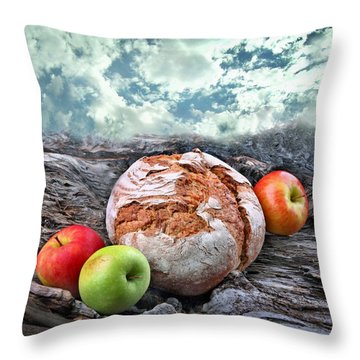 Bread Of The World Throw Pillow by Manfred Lutzius