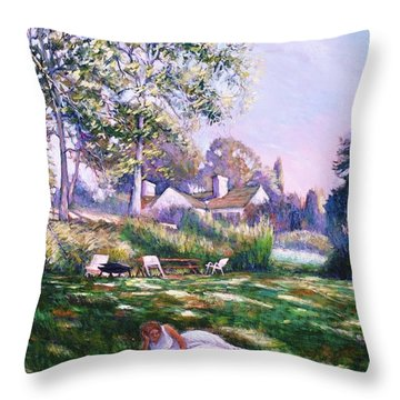 Even Angels Need A Break Throw Pillow