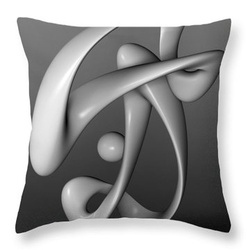 Breakdancing Throw Pillow by Richard Rizzo