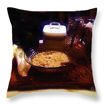 Breakfast Of Champions Throw Pillow by RC DeWinter