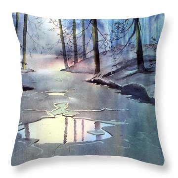 Breaking Ice Throw Pillow