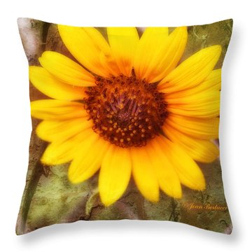Throw Pillow featuring the photograph Breaking Out by Joan Bertucci
