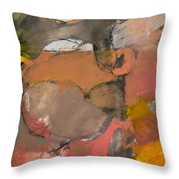 Throw Pillow featuring the painting Breastbone by Cliff Spohn