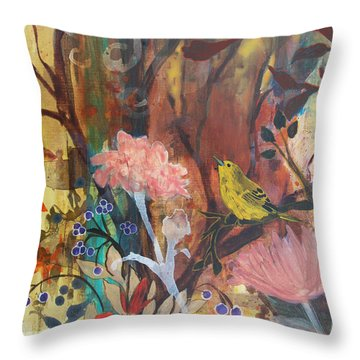 Throw Pillow featuring the painting Breath Of Cooler Air by Robin Maria Pedrero