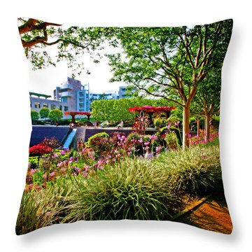 Throw Pillow featuring the photograph Breathing Harmony by Jalai Lama