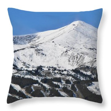 Breckenridge Peak 8 Throw Pillow by Margaret Bobb
