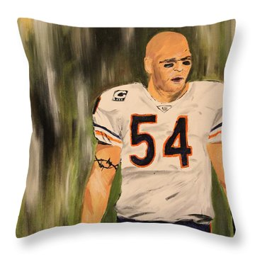 Brian Urlacher Throw Pillow