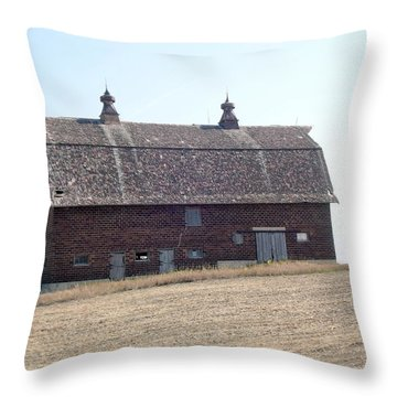 Brick Barn Throw Pillow by Bonfire Photography