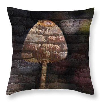 Brick Mushroom Throw Pillow