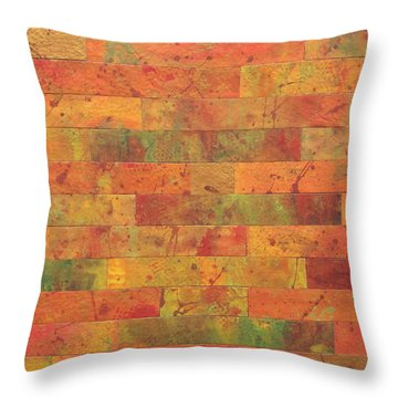 Brick Orange Throw Pillow