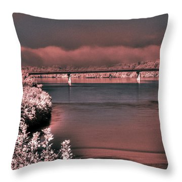 Throw Pillow featuring the photograph Bridge Across The Mo by William Fields