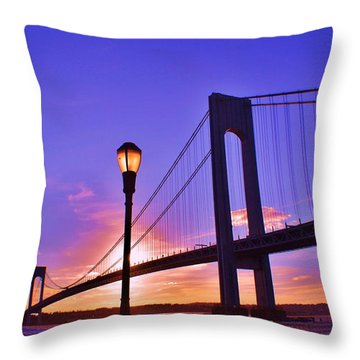 Bridge At Sunset 2 Throw Pillow by Artie Wallace