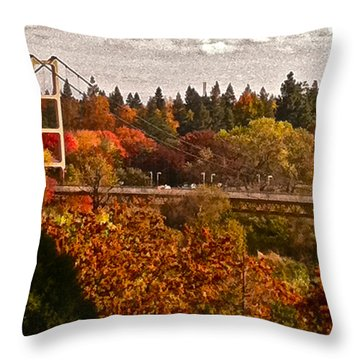 Throw Pillow featuring the photograph Bridge by Bill Owen