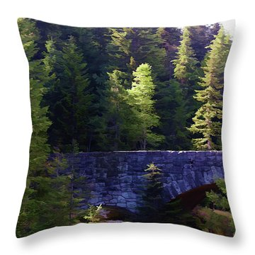Bridge In The Middle Of Beauty Throw Pillow