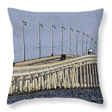 Bridge Of Rocks Throw Pillow