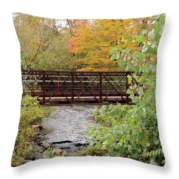 Bridge Over River Throw Pillow