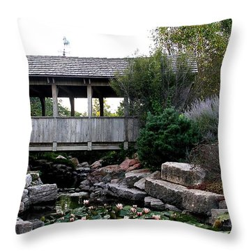 Throw Pillow featuring the photograph Bridge Over Water by Elizabeth Winter