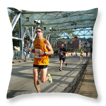 Throw Pillow featuring the photograph Bridge Runner by Alice Gipson