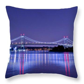 Tri-borough Bridge In Nyc Throw Pillow