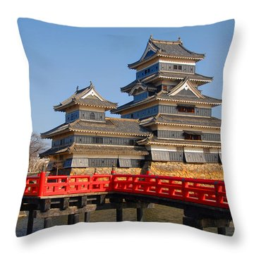 Bridge To The Matsumoro Castle Throw Pillow