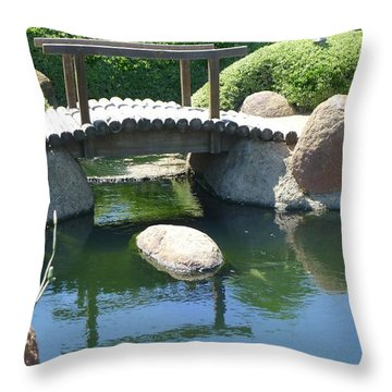 Bridge To Walk Path Throw Pillow by Nora Boghossian