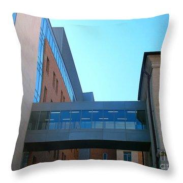Bridging The Gap - Austin Skywalk Throw Pillow by Connie Fox