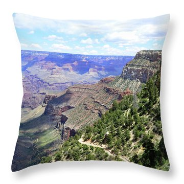 Throw Pillow featuring the photograph Bright Angel Trail by Paul Mashburn
