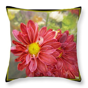 Throw Pillow featuring the digital art Bright Edges by Debbie Portwood