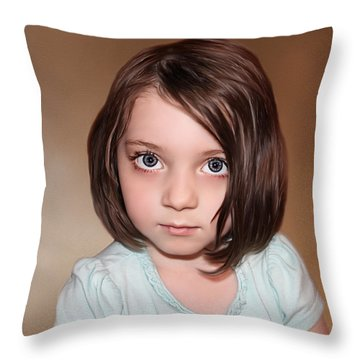 Bright Eyes Throw Pillow by Tom Schmidt