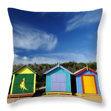 Brighton Beach Throw Pillow by Yew Kwang