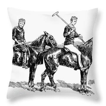 Brighton Polo Club, 1877 Throw Pillow by Granger