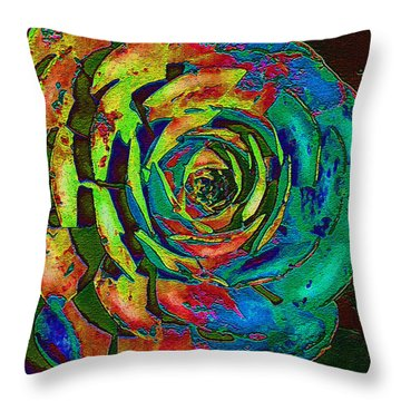 Brilliant Succulent Throw Pillow by Jane Schnetlage