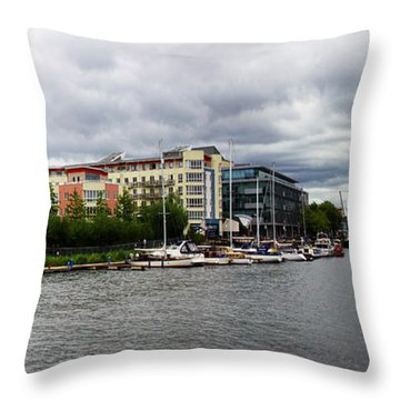 Bristol Panoramic Photograph Throw Pillow