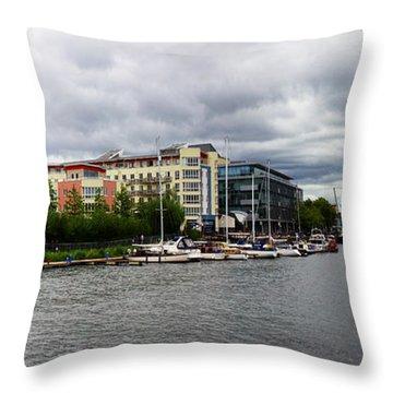 Bristol Panoramic Photograph Throw Pillow by Ken Brannen