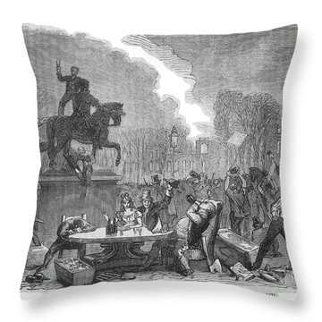 Bristol: Reform Riot, 1831 Throw Pillow by Granger
