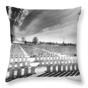 British Cemetery Throw Pillow by Simon Marsden