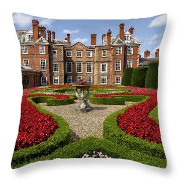 British Garden  Throw Pillow by Adrian Evans